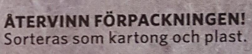Findus Dagens Lövtunn bit - Instruction de recyclage et/ou informations d'emballage - sv