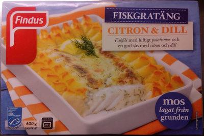 Findus Fiskgratäng Citron & Dill - Produit - sv