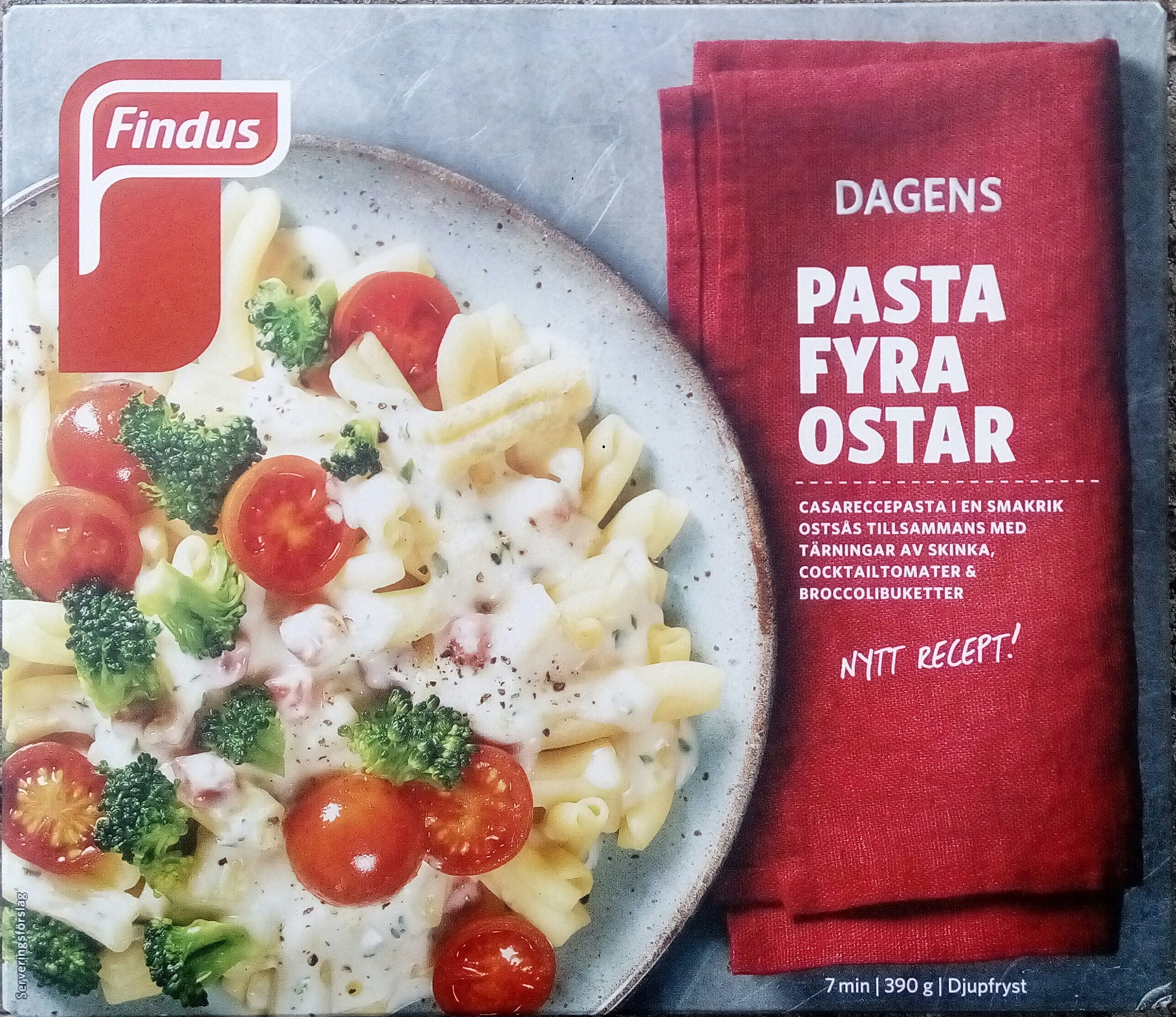 Findus Dagens Pasta fyra ostar - Product - sv