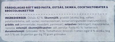 Findus Dagens Pasta fyra ostar - Ingredients - sv