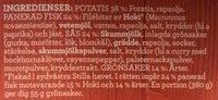 Findus Dagens Panerad fisk med remoulad - Ingredients
