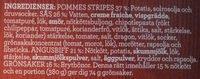 Findus Dagens Grillad Angusbiff med pommes stripes - Ingredients