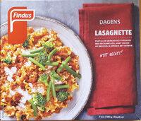 Findus Dagens Lasagnette - Produit - sv