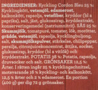 Findus Dagens Schnitzel Cordon Bleu - Ingredients