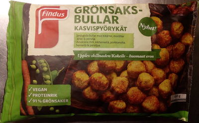 Findus Grönsaksbullar - Produit