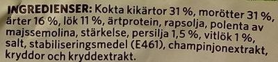 Findus Grönsaksbullar - Ingrédients