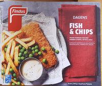 Findus Dagens Fish & Chips - Produit - sv