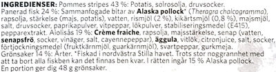 Findus Dagens Fish & Chips - Ingrédients - sv