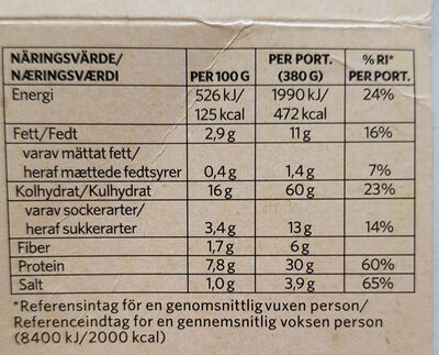 Bowl Pulled Vego med Teriyakisås - Informations nutritionnelles - sv
