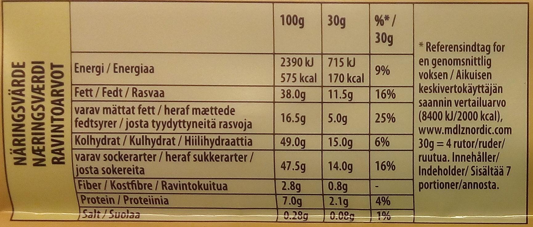 Marabou Helnôt 200g - Informations nutritionnelles - sv