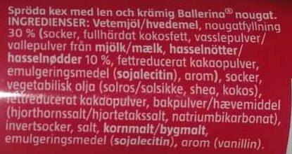 Göteborgs Ballerina Original - Ingredients
