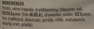 Estrella Gräslök & Cream Cheese - Ingredients