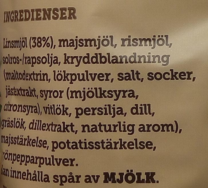Estrella Linschips Dill & Gräslök - Ingredients