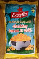 Estrella Match-bollar Cheddar, bacon & chili - Produit - sv