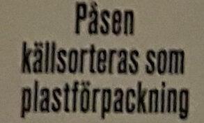 Linsbågar - Jordnötssmör - Instruction de recyclage et/ou informations d'emballage - sv