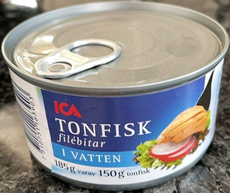 Tonfisk filébitar i vatten - Produkt - sv