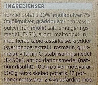 ICA Potatismos - Ingrédients