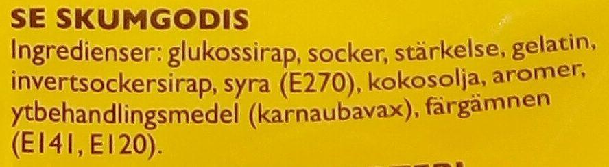 Ahlgrens bilar Original - Ingredients