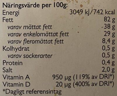 Bregott Havssalt - Nutrition facts - sv