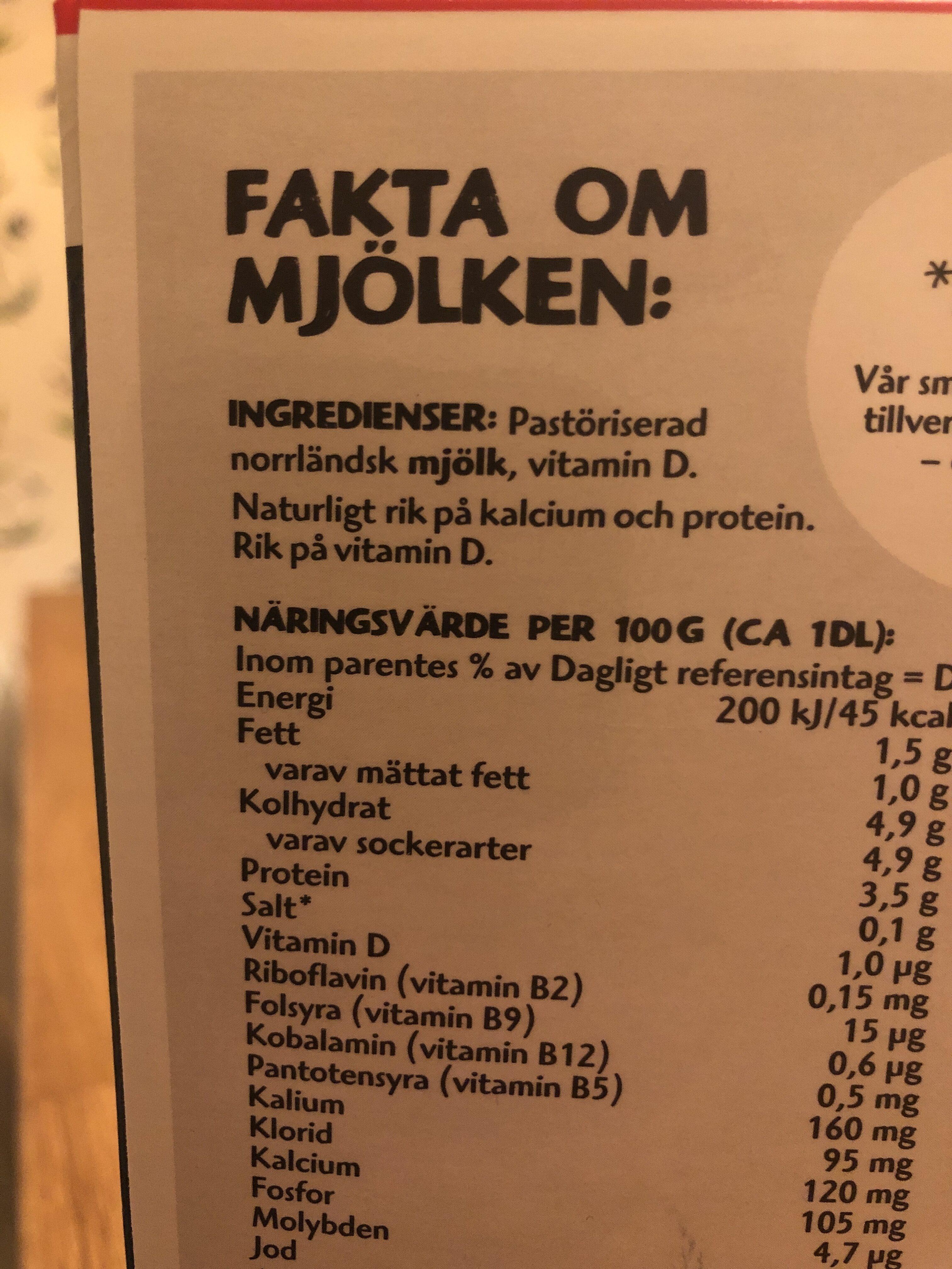 Mellanmjölken - Ingredients - sv