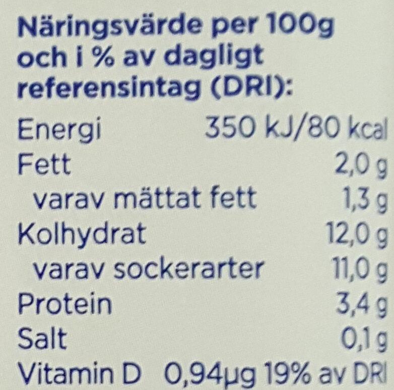 Yoggi Original Skogsbär - Informations nutritionnelles - sv