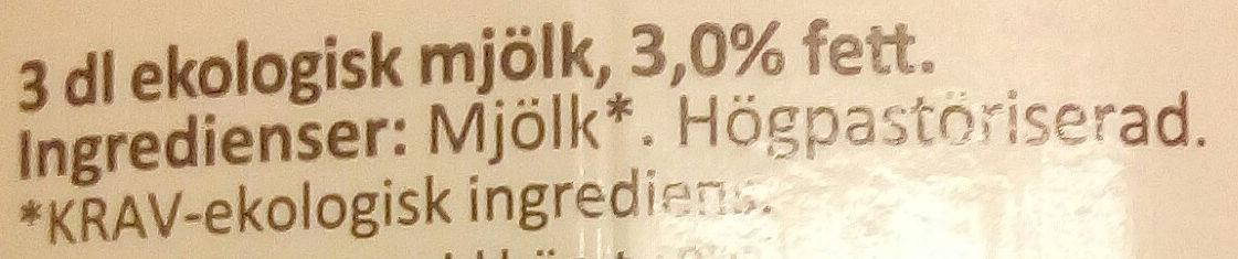 Arla Ko Ekologisk Mjölk - Ingrédients