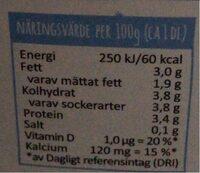 Mild Yoghurt Naturel - Informations nutritionnelles - sv