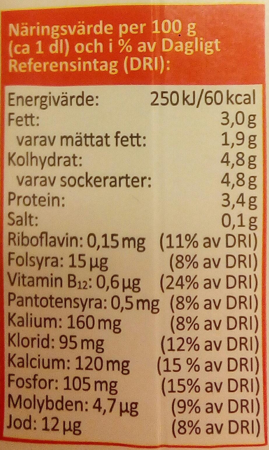 Arla Ko Ekologisk Mjölk - Informations nutritionnelles