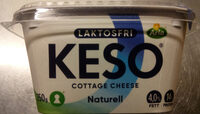 KESO Cottage Cheese Laktosfri Naturell - Produit - sv