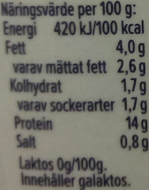 KESO Cottage Cheese Laktosfri Naturell - Informations nutritionnelles - sv
