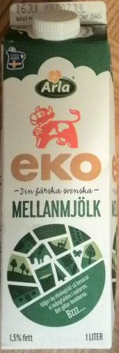 Ekologisk Mellanmjölk - Product