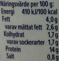 KESO Cottage Cheese Ekologisk Naturell - Informations nutritionnelles - sv