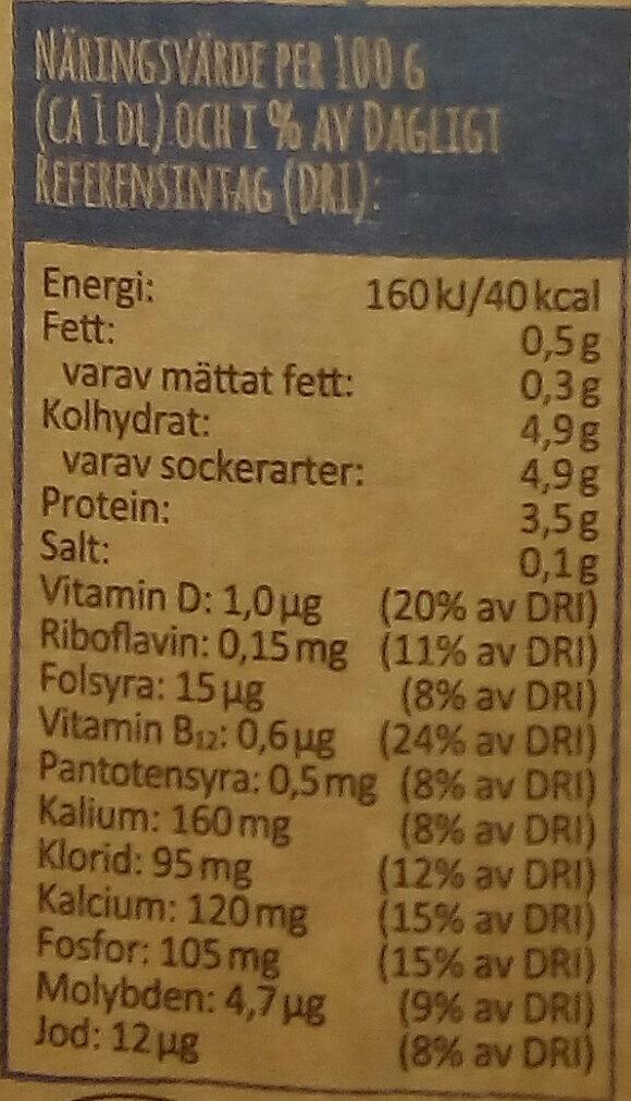 Arla Ko Ekologisk Lättmjölk - Nährwertangaben - sv