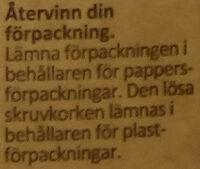 Arla Ko Ekologisk Lättmjölk - Wiederverwertungsanweisungen und/oder Verpackungsinformationen - sv
