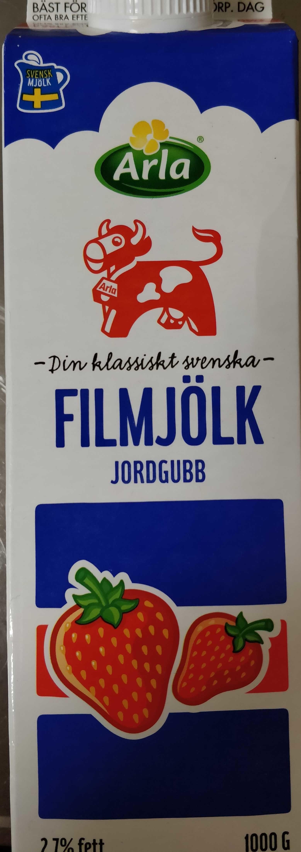 Filmjölk jordgubb - Product - en
