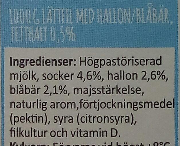 Arla Ko Lättfil Hallon/blåbär - Ingrediënten - sv