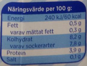 Yoggi Lätt Jordgubb - Informations nutritionnelles - sv