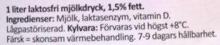 Arla Ko Färsk laktosfri Mellanmjölkdryck - Ingrédients