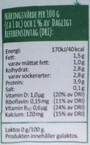 Arla Ko Färsk laktosfri Mellanmjölkdryck - Informations nutritionnelles