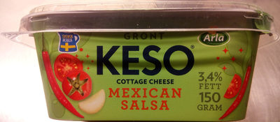 KESO Cottage Cheese Grönt Mexican Salsa - Product - sv