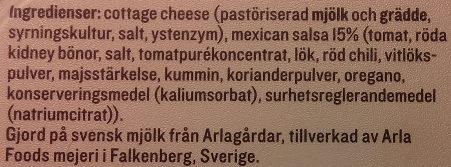 KESO Cottage Cheese Grönt Mexican Salsa - Ingredients - sv