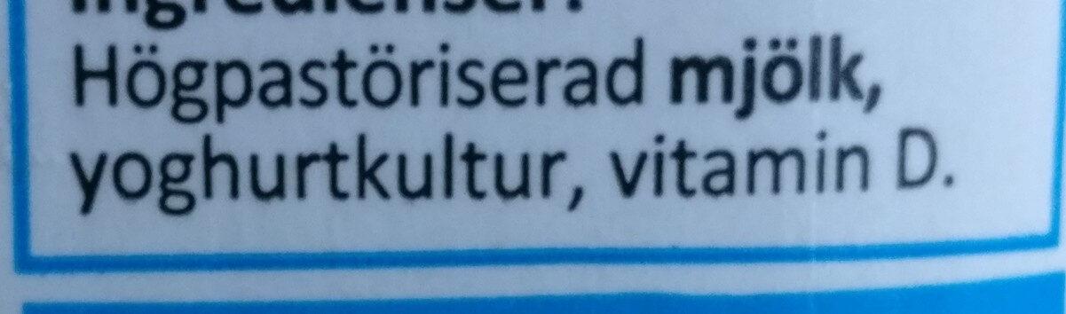 Yoghurt Naturell - Ingrédients - sv