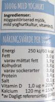 Mild yoghurt - Voedingswaarden - en