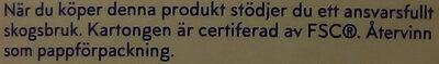 Skånemejerier fil pepparkaka - Instruction de recyclage et/ou informations d'emballage - sv