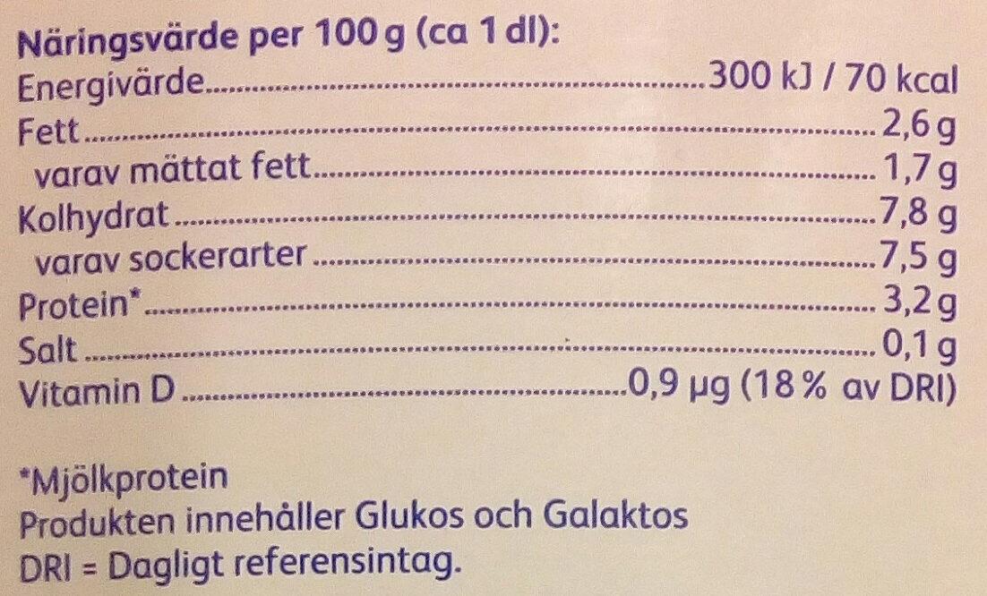 Skånemejerier Laktosfri Filmjölk Pepparkaka - Nutrition facts - sv