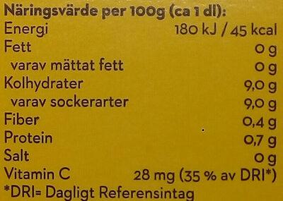 Bravo Apelsinjuice - Informations nutritionnelles - sv