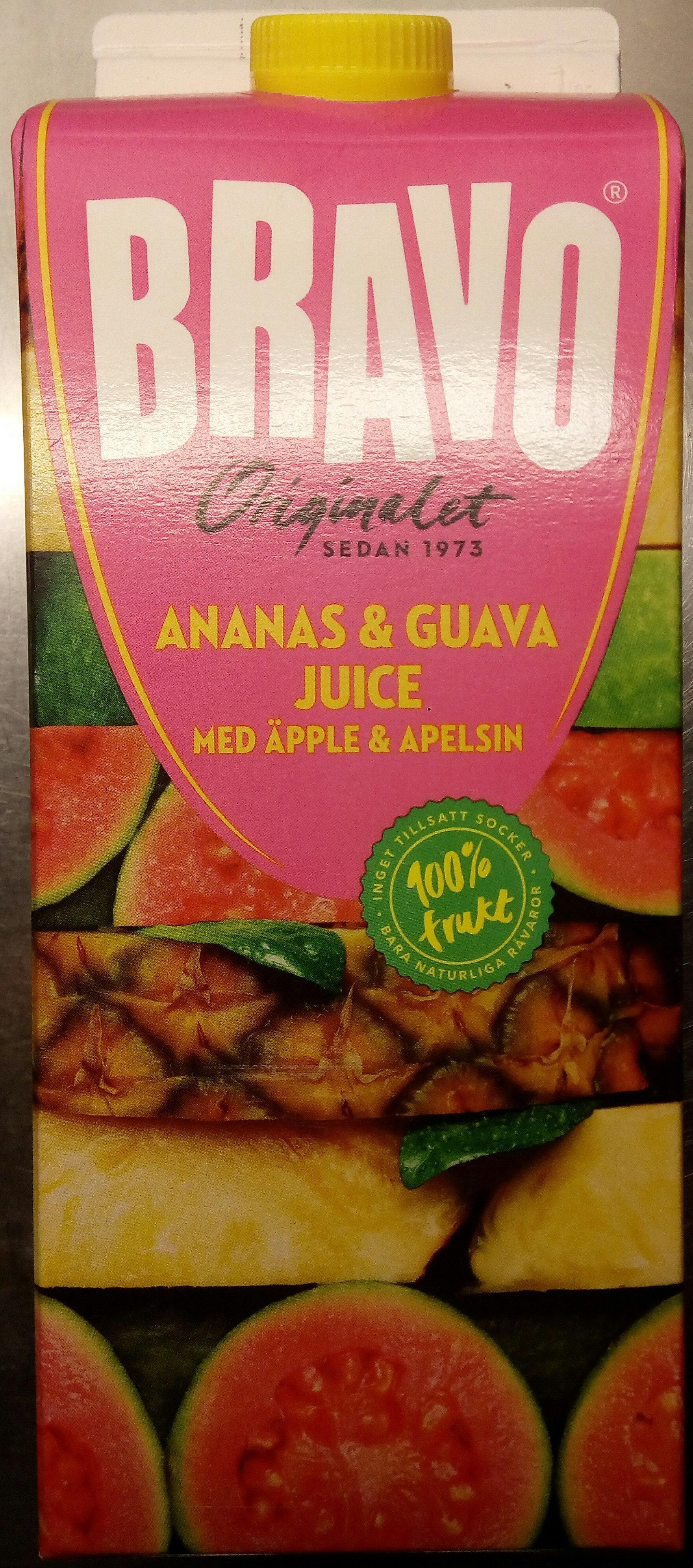 Bravo Ananas & Guavajuice med äpple & apelsin - Produit - sv