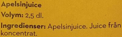 Bravo Originalet Apelsinjuice - Ingrédients