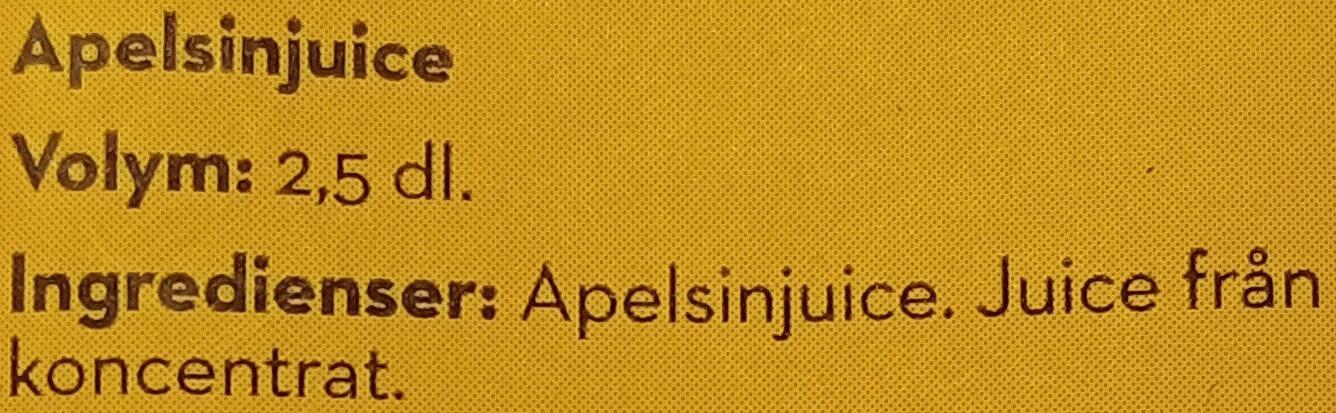 Bravo Originalet Apelsinjuice - Ingrédients - sv