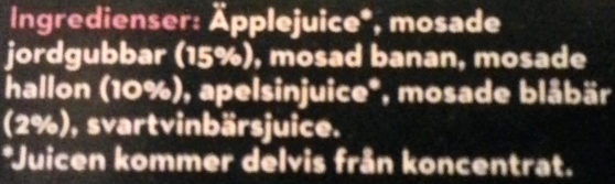 Bravo Smoothie Hallon, jordgubb & blåbär - Ingredients